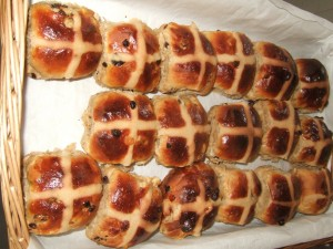 Hot Cross Buns from Allendale Bakery