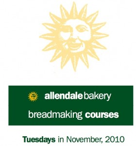 Allendale Bakery's Bread-Making Courses in November, 2010